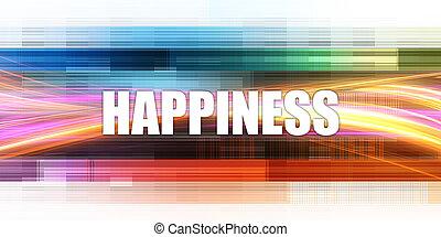 conceito, incorporado, felicidade