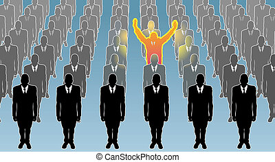 conceito, indivíduo, ilustração negócio
