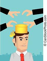 conceito, infringement, intelectual, vetorial, ilustração, ...