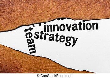 conceito, inovação, estratégia