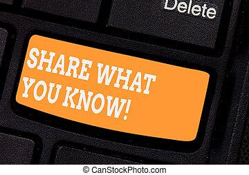 conceito, keypad, texto, parte, teclado computador, know., mensagem, seu, que, conhecimento, criar, escrita, intention, tu, negócio, comunicar, experiências, tecla, outros, palavra, idea., apertando
