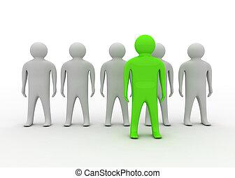 conceito, líder, equipe