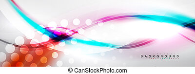 conceito, liso, onda, movimento, fundo, fluir