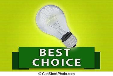 conceito, luz, escolha, bulbo, bandeira, melhor