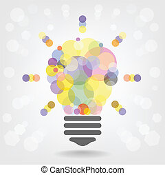 conceito, luz, idéia, criativo, desenho, fundo, bulbo