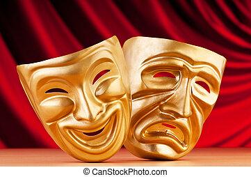 conceito, máscaras, teatro