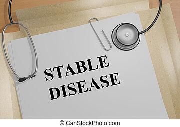 conceito médico, -, doença, estável