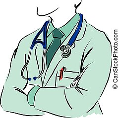conceito médico, ilustração, doutor