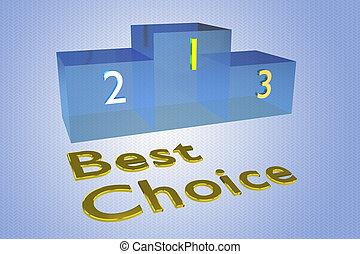 conceito, melhor, escolha