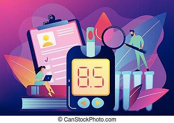 conceito, mellitus, vetorial, illustration., diabetes