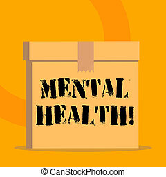 conceito, mental, nível, texto, wellbeing, significado, psicológico, demonstrating., estado, letra, ou, health.