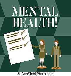 conceito, mental, texto, wellbeing, psicológico, demonstrating., significado, emocional, letra, condição, health.