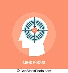 conceito, mente, foco, ícone
