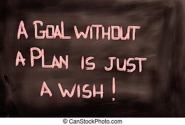 conceito, meta, apenas, desejo, sem, plano