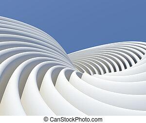 conceito, modernos, arquitetônico