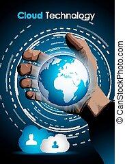 conceito, mostrar, tecnologia, imagem, armazenamento, dados,...
