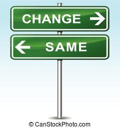 conceito, mudança, mesmo, sinal