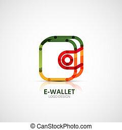 conceito, negócio, companhia, carteira, vetorial, logotipo