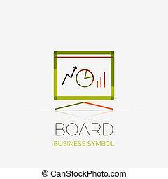 conceito, negócio, companhia, tábua, apresentação, logotipo