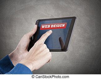 conceito negócio, em, a, digital, idade