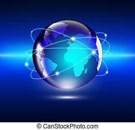 conceito, negócio global, internet
