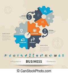conceito negócio, gráfico, elemento