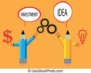 conceito negócio, lápis, modernos, modelo