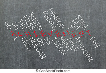 conceito negócio, por, crossword, de, componentes, que,...