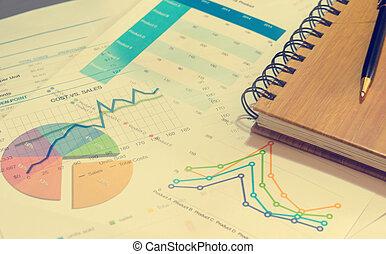 conceito negócio, relatório, papel