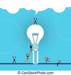 conceito negócio, sucesso, ilustração, idéia