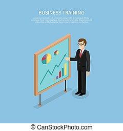 conceito, negócio, taining