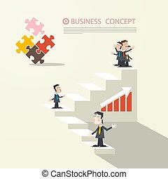 conceito negócio, vetorial, desenho