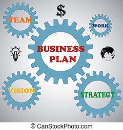 conceito negócio, vetorial, ilustração