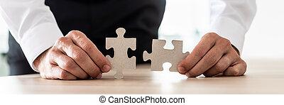 conceito, negócio, visão, solução