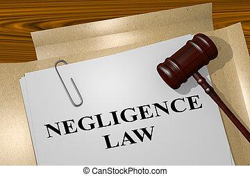 conceito, negligência, lei, legal
