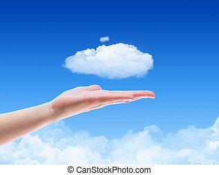 conceito, nuvem, oferta