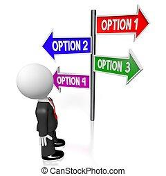 conceito, opções, 3d