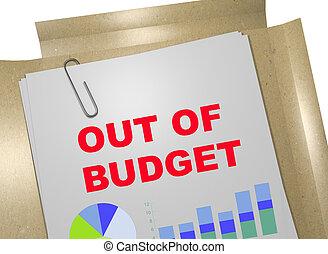 conceito,  -, orçamento, negócio, saída
