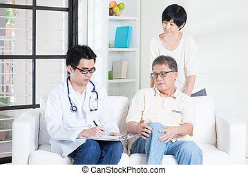 conceito, paciente, doutor, cuidados de saúde
