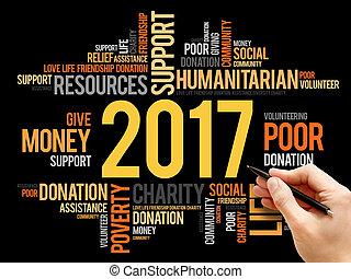 conceito, palavra, ajuda, social, 2017, nuvem