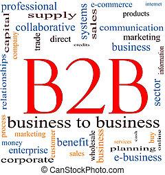 conceito, palavra, b2b, nuvem