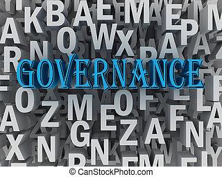 conceito, palavra, governo, nuvem,  3D