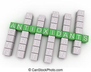 conceito, palavra, imagem, edições, fundo, antioxidantes,...