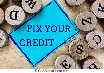 conceito, palavra, negócio, texto, dificuldade, credit.,...