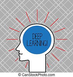 conceito, palavra, negócio, texto, profundo, escrita, máquina, usado, algorithms, cobrança, learning.