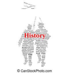 conceito, palavra, nuvem, história