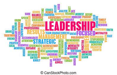 conceito, palavra, nuvem, liderança