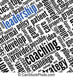 conceito, palavra, nuvem, liderança, tag