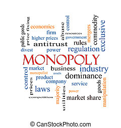 conceito, palavra, nuvem, monopólio