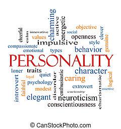 conceito, palavra, nuvem, personalidade